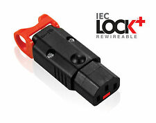 POWER LOCK bloccaggio IEC C13 FEMMINA rewireable dispositivo Connettore Basso Fumo