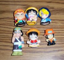 One Piece Ace, Luffy, Usopp, Sanji, Zoro Plastic Figure Lot