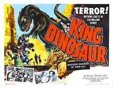 King Dinosaur Poster 02 Metal Sign A4 12x8 Aluminium