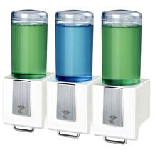 Bathroom Triple Soap Dispenser Wall Mounted 3 Shampoo Box Shower Home Office
