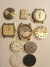 Vintage 1960's Hamilton Electronic & mechanical watches and parts, dials