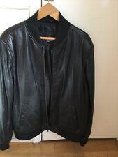 Unicorn London Men's Black Real Leather Bomber Style Jacket Size XL