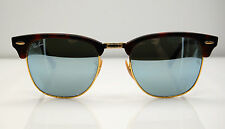 Ray Ban CLUBMASTER sunglasses - RB3016 (1145/30) -Havana Gold Silver Mirror 51mm