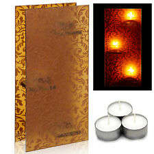 Brown 3pc Tealight Glass Candle Holder Stand Table Centerpiece Mantel Decoration