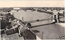 13 - cpsm - TARASCON - Le Rhône et les deux ponts