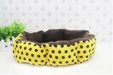 Newly Blue Polka Dot Soft Plush Warm Pet Bed Dog Cat Puppy Cushion House Beds