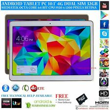 "Teléfono tablet PC 10.1"" Android 6.0 4G LTE GPS Octa Core 32GB IPS 1920 X 1200"