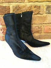 Georges Rech Black Fur Boots - Size UK 6 - Best Offer accept Free FAST Post*