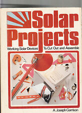 SOLAR PROJECTS-GARRISON-1ST 1981, RARE-SOLAR DEVICES TO CUT OUT & ASSEMBLE VG+
