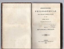 institutiones philosophicae matthaei liberatore soc.jesu ed.octava vol secondo