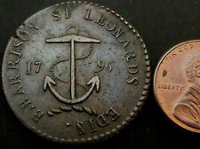 R938: High Grade 1796 Conder Token : Scottish Anchor Halfpenny : D&H Lothian 20