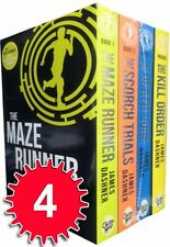 Maze Runner Series 4 books Set Collection James Dashner The Scorth Trials NEW