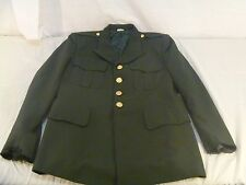 Used- Army Green Dress Top 41S Patches Removed, Miss Buttons 6207