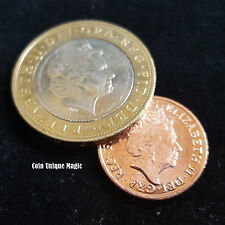 Magic Tricks - Coin Unique £2 - 1p The Amazing Vanishing 1p Two Pound Penny