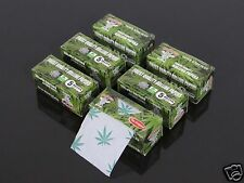 6 Small Box ROLLS Papers Natural Gum Smoking Rolling Papers 5 Meters Each! #221