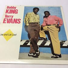 Bobby King & Terry Evans 'Live and Let Live!' VG/G+ Classic Vinyl LP 12""