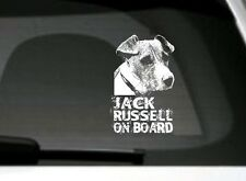Jack Russell On Board, Car Sticker Sign, High Detail, Great Gift For Dog Lover