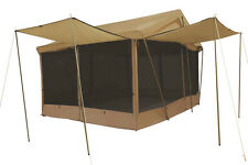 NEW Trek -  8 AWNINGS 14' x 10' CANVAS SCREEN HOUSE TENT Sleeps 9 w/Custom Fly