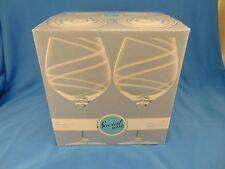 Wine glasses Luigi Bormioli Aspen balloon white & clear  glasses 4 18 oz.