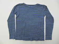 AUTH Boy's Crew Cuts Striped Long Sleeve Pouch Pocket Scoop Neck Shirt SZ 12
