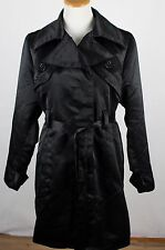 Torrid Size 1 Black Button Front with Belt Polyster Long Jacket 1X
