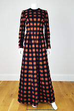 *GIVENCHY* SILK AND SUEDE FULL LENGTH LONG SLEEVE GOWN (8/10)