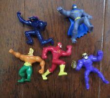 Super Heroes Batman Aquaman Flash McDonald's Mini Figures Kids Meal Toys Lot