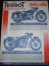 pub moto TERROT 1951 ( 100 , 125 , 350 , 500 cm3 ) ( ref 19 )