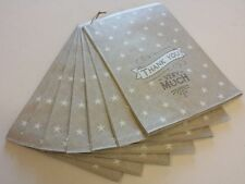 Vintage Style Gift Bags - Thank You - Set of 40 Grey - Party Wedding Favour Bag