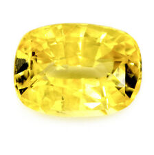 Certified Natural 1.40ct Ceylon Yellow Sapphire VS Clarity Cushion Sri Lanka