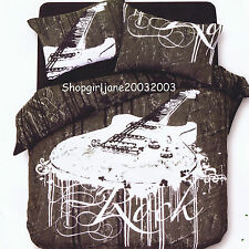 Rock Black - King Bed Quilt Doona Duvet Cover Set