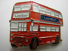 Red double decker bus - Routemaster pin badge.. London England lapel badge
