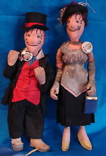 Rare Pair of Maggie and Jiggs Character Dolls-Contest Winning Theriault Auction!