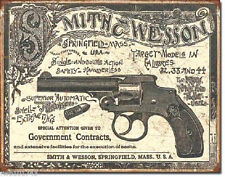 Smith Wesson 1892 gobierno contratos revólver gunvintage Retro Tin señal occidental