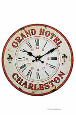 Vintage Style Grand Hotel Fleur de Lys Paris France Wall Kitchen Clock
