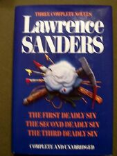Lot of 8 Lawrence Sanders Hardcover Books