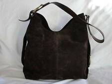 OSCAR DE LA RENTA Chocolate Brown Suede Hobo Shoulder Bag Great Condition