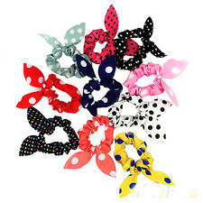 10PC Hot Fashion Korean Girls Bunny Ear Headband Rabbit Ear Hair Band Bow Tie Wr