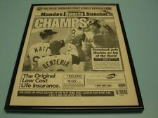 1997 FLORIDA MARLINS WIN WORLD SERIES FRAMED 11x14 NEWSPAPER FRONT PAGE PRINT