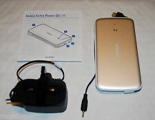 Nokia DC-11 Portable Charger with Thin Pin & Micro USB Outputs + Mains Charger