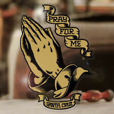 Santa Cruz Praying Hands sticker decal genuine surfing surf lowrider gold 3.75""