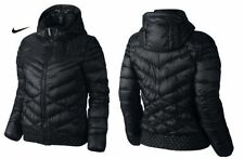 NIKE CASCADE HOODED  FILL DOWN Coat Women's Small 541410 011 Black $220+