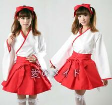 Women Kimono Japanese Lolita Maid Uniform Outfit Anime Cosplay Costume Dress RD