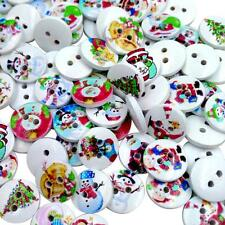 100 Christmas Button Flatback Xmas Decoration Cardmaking Craft Embellishment