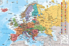 Map of Europe European Maxi size 91.5x61cm Poster Education Aid New