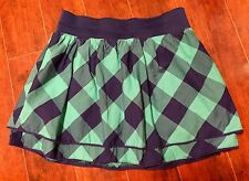 Girls Chaps Skort Size 16 Navy Green Plaid Back 2 School Free Shipping