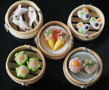 Dollhouse Miniatures 5 Dim Sum Chinese Cuisine Handmade Toy Food Supply Deco B