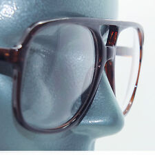 Big Frame Clear Lens Uber Geek Nerdy 80's Tortoise Office Accessory Glasses