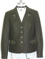 GREEN ~ BOILED WOOL Women German Hunting Riding Winter JACKET Over Coat / 12 M