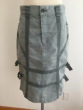 SEE BY CHLOE Paris Skirt Gray Cotton Blend w/ Corduroy Accents Size 12